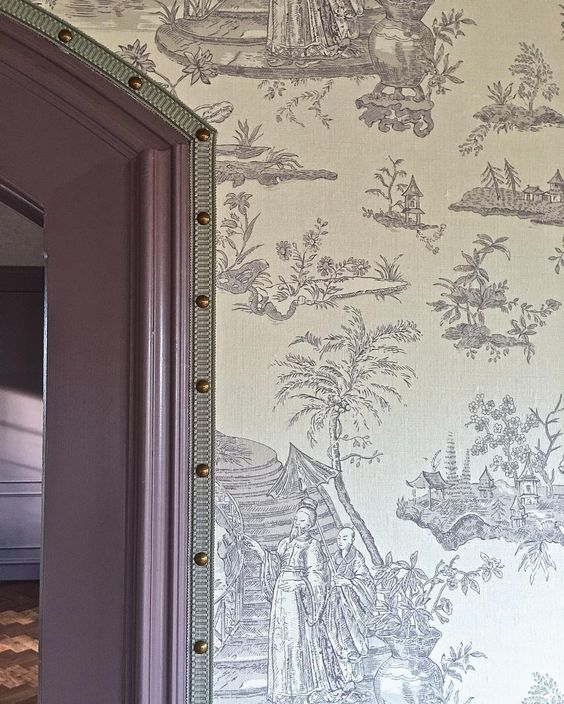 Tape Trim on Wallpaper | The English Room
