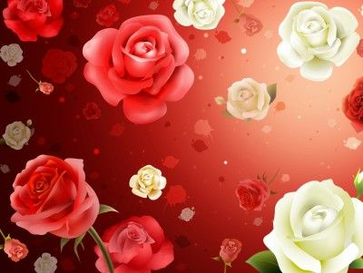 Abstract Floral Rose Pattern Background Wallpaper