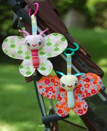 handmade baby stroller butterfly rattle toys, too cute!!