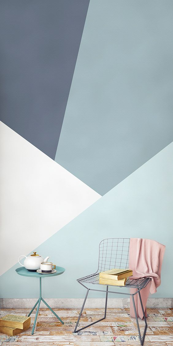 Clean Sleek And Elegant This Geometric Wallpaper Design Brings Together The Be