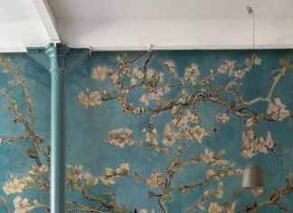 Do you admire Van Gogh's paintings? This art wallpaper mural is both sophist...