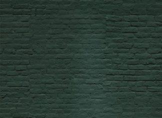 Go green with this emerald green brick wallpaper. Dark, sumptuous tones set the ...