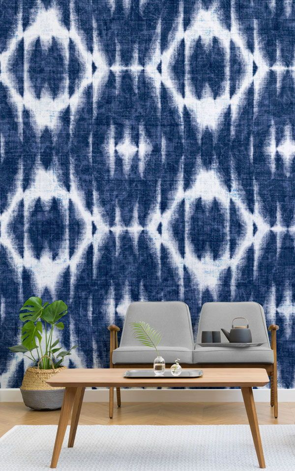 Our Osaka Shibori Wallpaper Mural is a gorgeously textured design created by our...