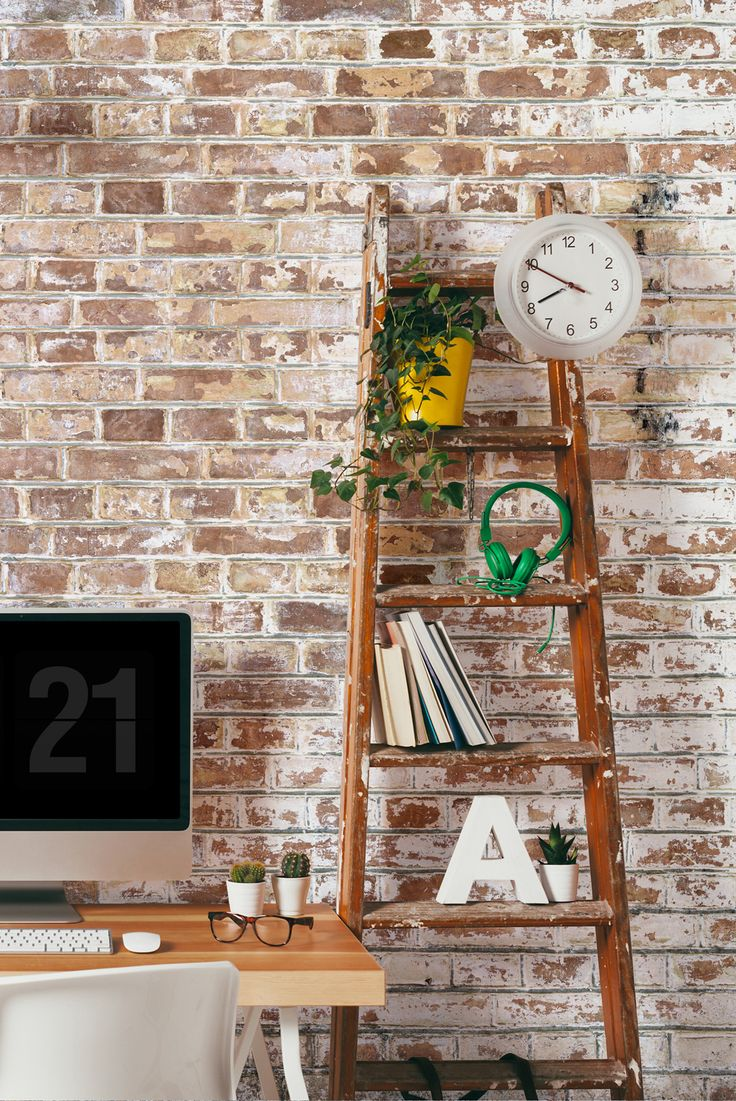 Living Room Wallpaper Inspiration This Paint Covered Faux Brick