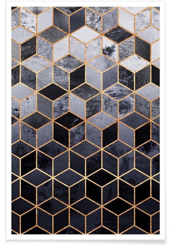 Daydream Cubes en Affiche premium par Elisabeth Fredriksson | JUNIQE