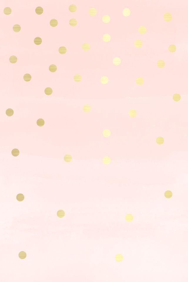 РОЗОВЫЙ ФОН Phone-Celular-Wallpaper-Lovely-Blush-soft-Pink-gold-spots-dots-iphone-wallpaper-phone-background-lock%E2%80%A6