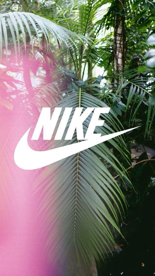 Nike // Fond d'ecran // Iphone Wallpaper // Tendance // Palmier Rose