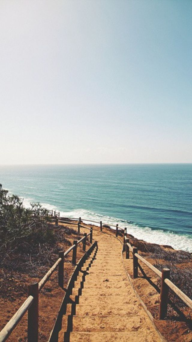 To the Beach / Find more Nature themed wallpapers for your #iPhone + #Android @p...