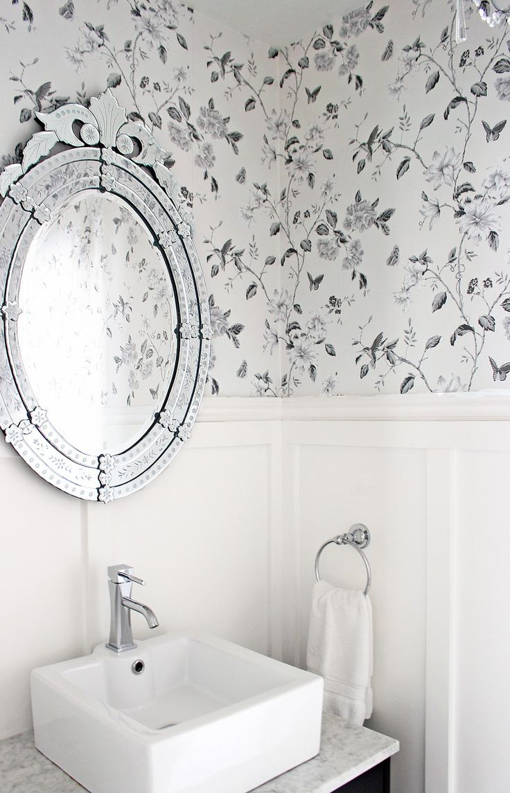 Bathroom Wallpapers Inspiration : Bathroom wallpaper, Anthropologie ...