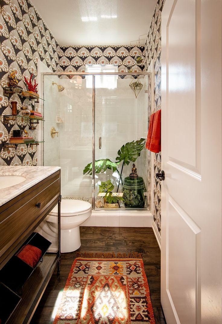 Bathroom Wallpapers Inspiration Bohemian Life Boho Home Design Decor Nontraditional Living Element