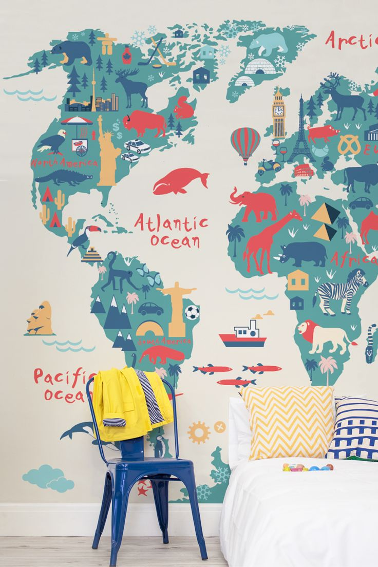 Bedroom wallpaper ideas beautiful illustrations take your child on beautiful illustrations take your child on a journey around the world treat you gumiabroncs Choice Image