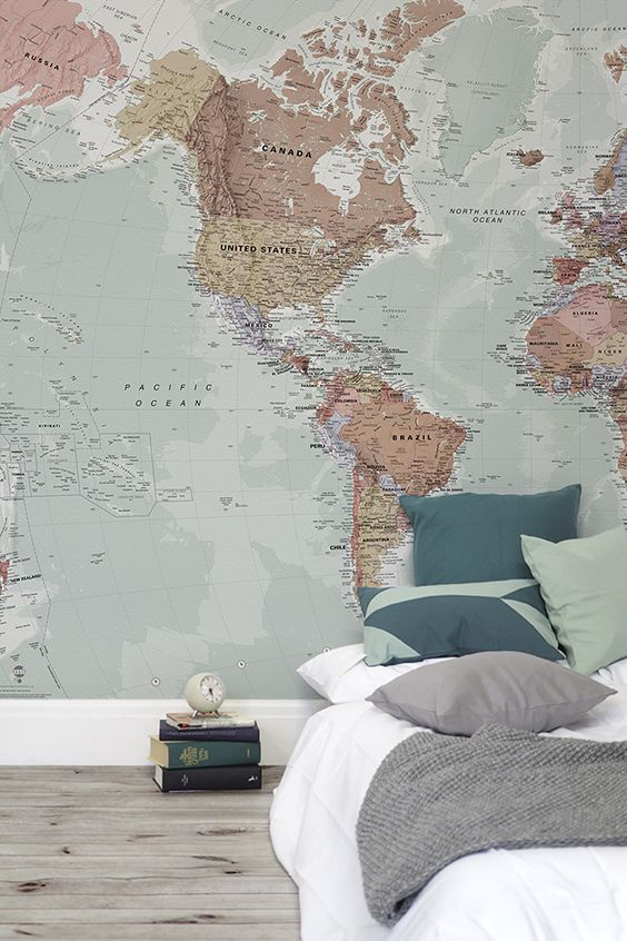 Bedroom Wallpaper Ideas For All The Travel Junkies This Wonderful
