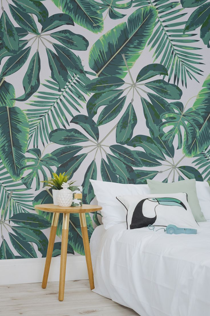 Go Bold Or Home With This Statement Tropical Wallpaper Showcasing A Selectio