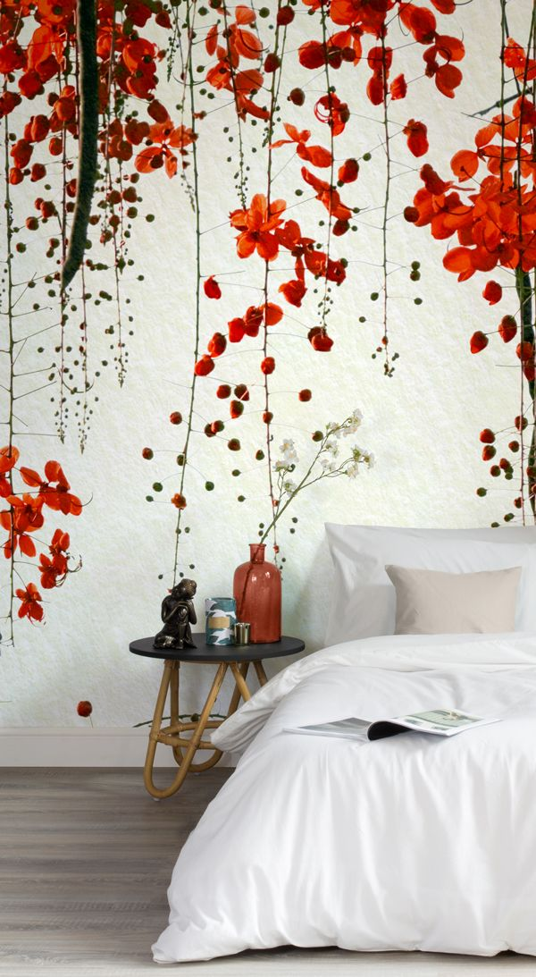 Our Red Blossom Mural Wallpaper is a beautiful design for those of you that want...