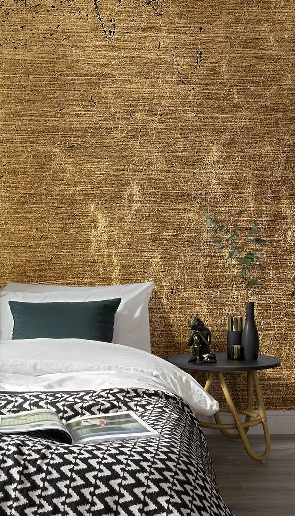 The honey tones of this wallpaper mural will add prestige, warmth and elegance t...