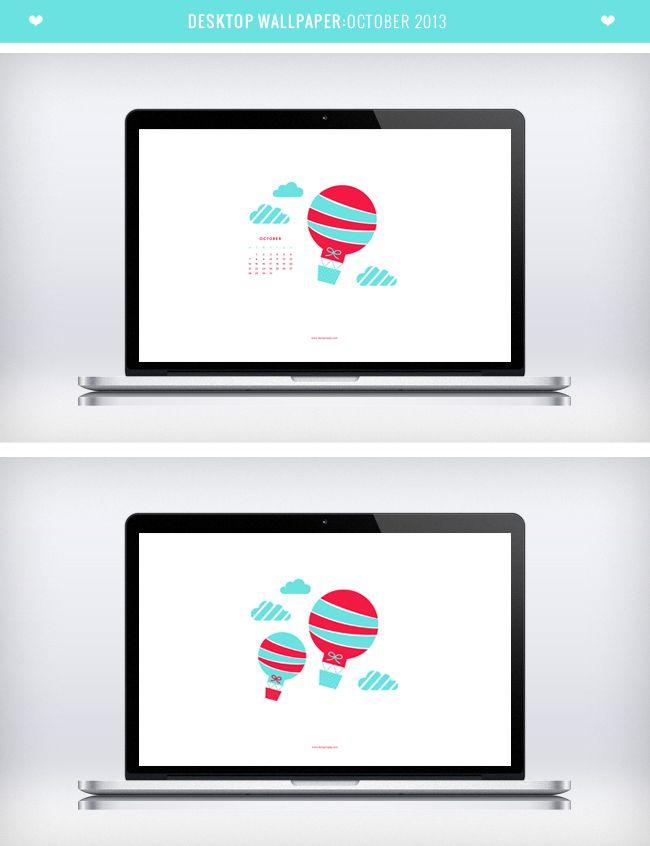 Desktop Wallpaper Calendar - October 2013 FREE DOWNLOAD by Design is Yay!