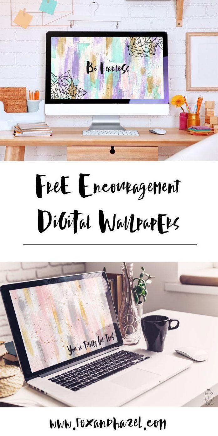 Free Encouragement Desktop Wallpapers from Fox + Hazel. #desktopwallpaper #deskt...