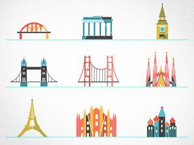 Little landmarks  by kellianderson