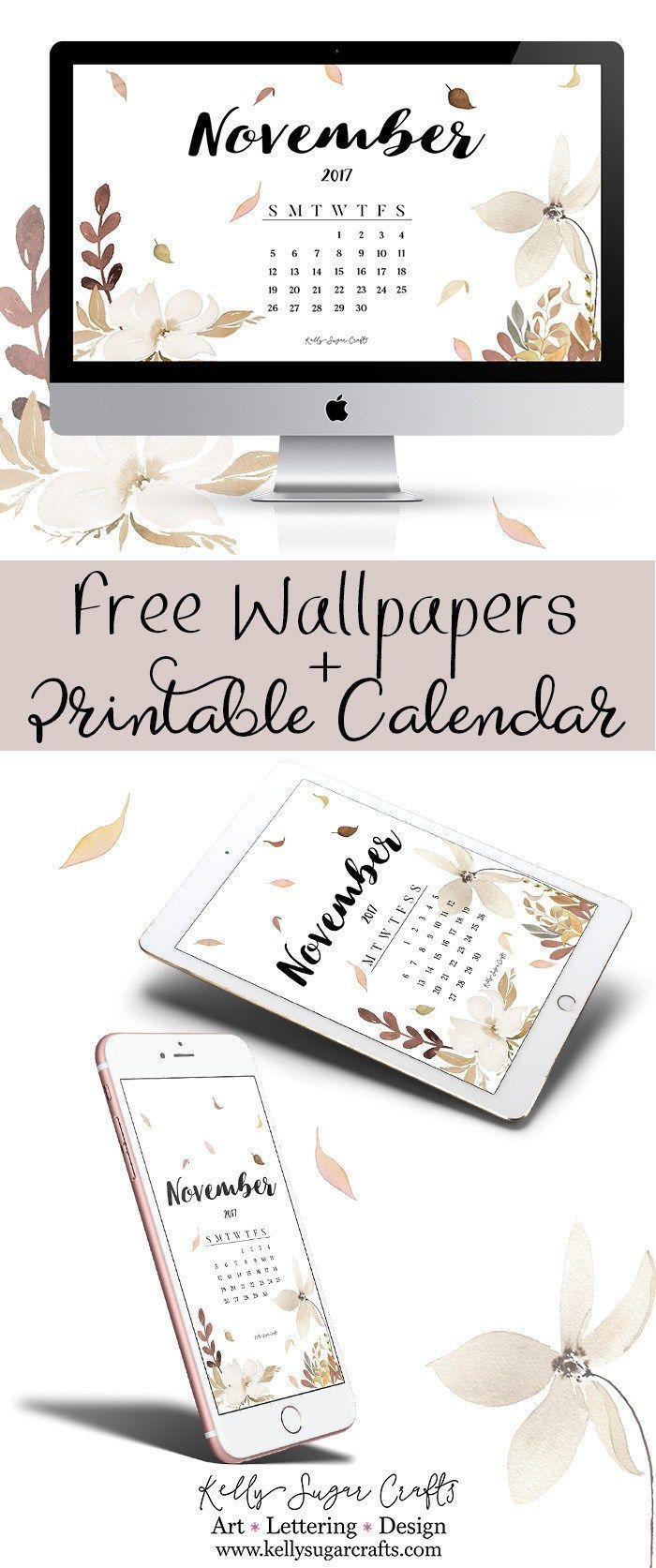 graphic regarding Printable Wallpapers called Desktop Wallpaper : November 2017 Calendar Wallpapers and