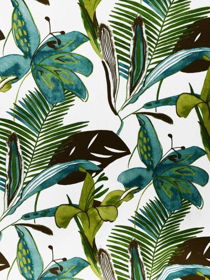 PALMA/PERLA PATINA (Outdoor) #blue-turquoise #botanical-floral #green…