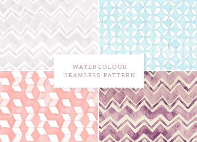 Seamless watercolor patterns via How About Orange