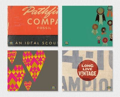 Vintage-inspired desktop wallpapers at Fossil