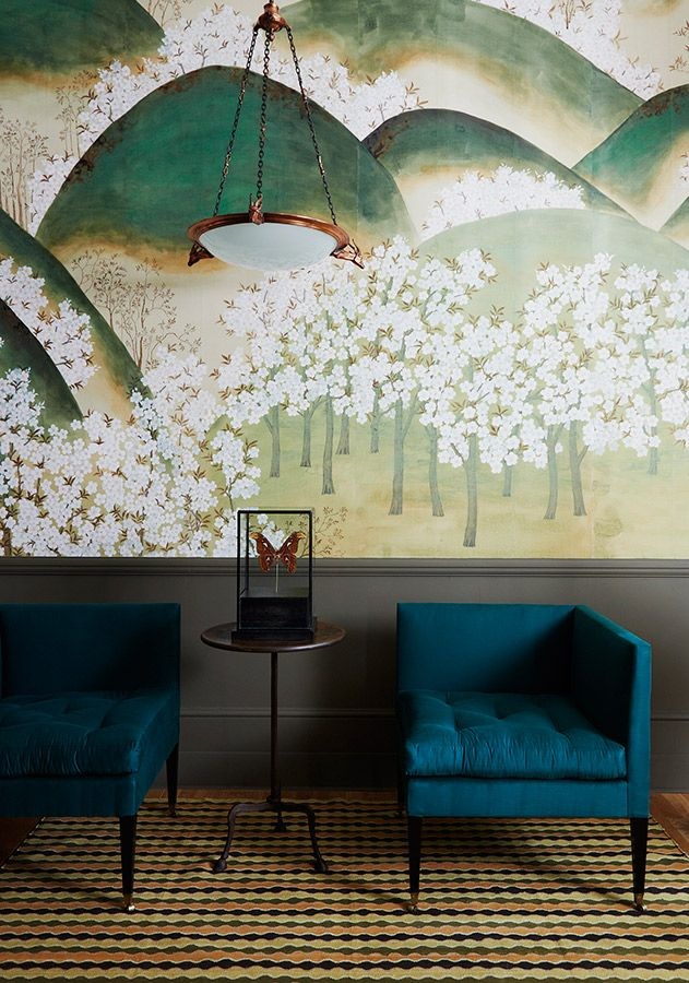 hand-painted wallpaper // de gournay //