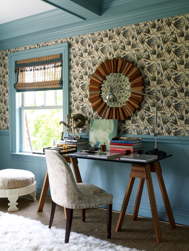 Katie Leede and Company: Blues, greens and browns are a perfect pallet by the se...