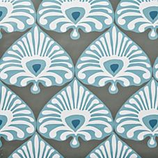 Palmetto Wallpaper – Olive/Turquoise