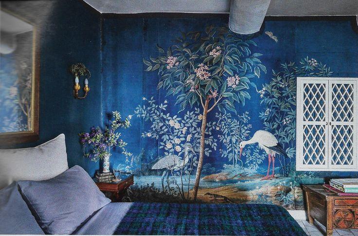 Interior Design Wallpaper Ideas Wallpaper Chinoiserie Blue