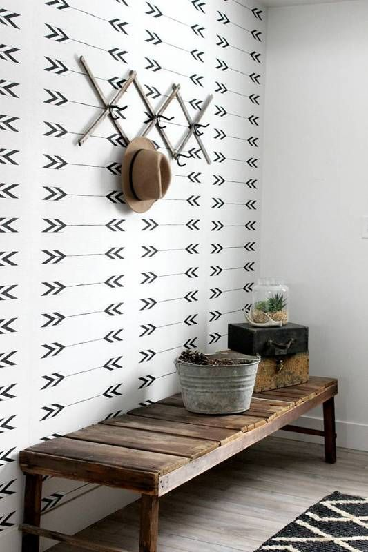 wallpaper trends black and white arrow print