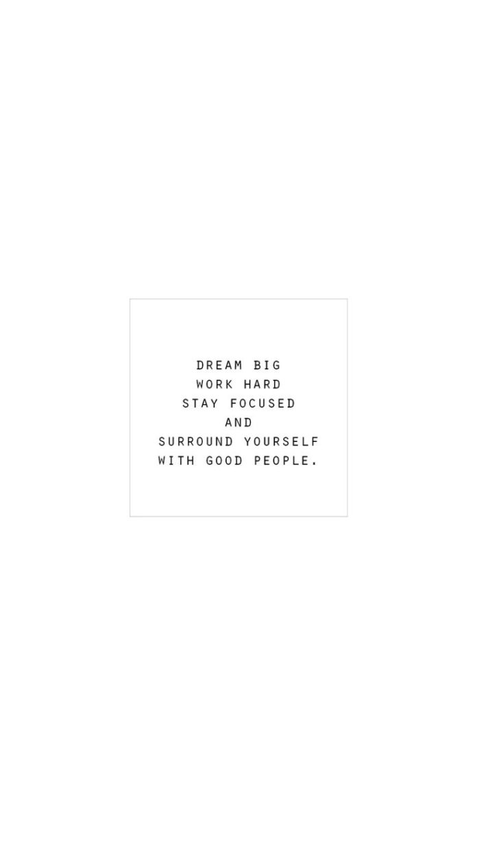 Dream big, work hard, stay focused and surround yourself with good people.  Wall...