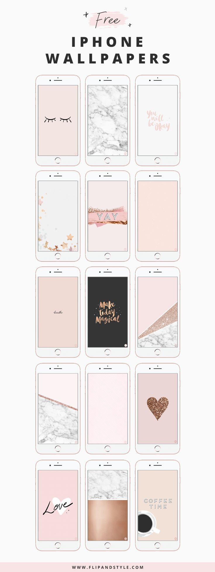 Iphone Wallpaper Free Iphone Wallpaper Blush Pink Marble Rose
