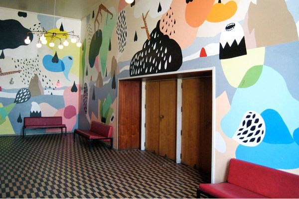 Hvass & Hannibal. Vega murales in Copenhagen. colorful graphic