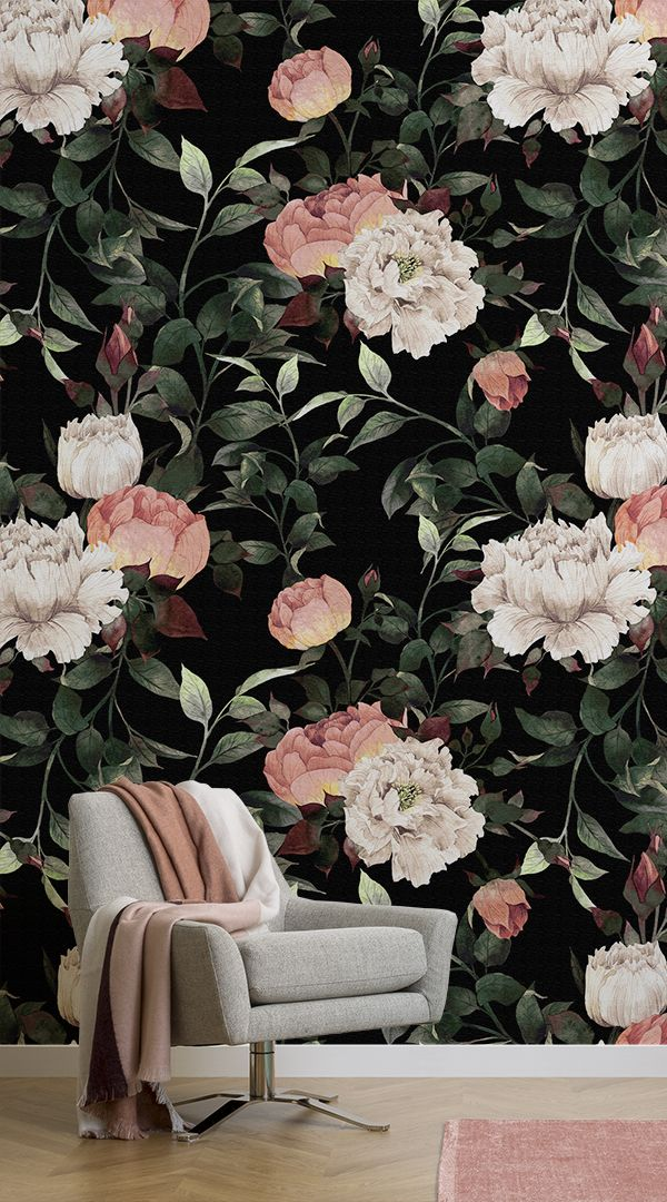 If you are looking for a dark wallpaper mural for a feature wall in your home, i...