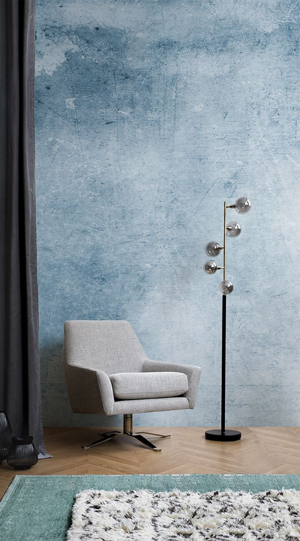 This watercolour wallpaper enhances sophisticated furniture and can be the compl...