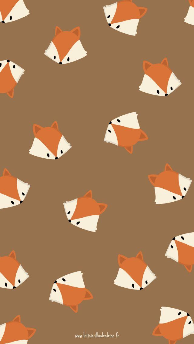 Hello Autumn Fox Girl iPhone Home Wallpaper Luna PanPins More