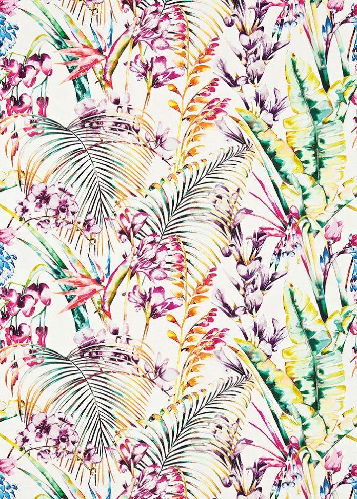 Nature psychedelique : Tissu Paradise (Harlequin).
