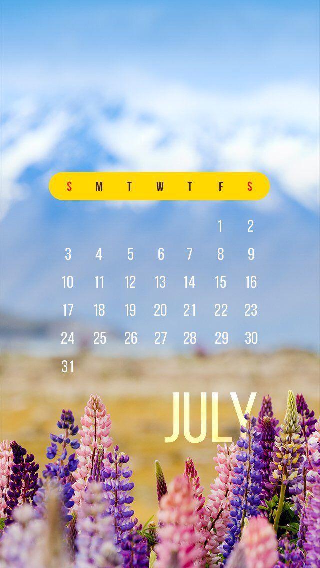 Nature wallpaper iPhone flowers calendar