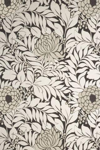 Floral pattern wallpaper | cream & black