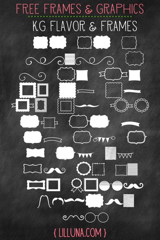 Free Frames and Graphics. LOVE these! { lilluna.com