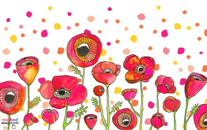 Poppies for Method | Lisa Congdon