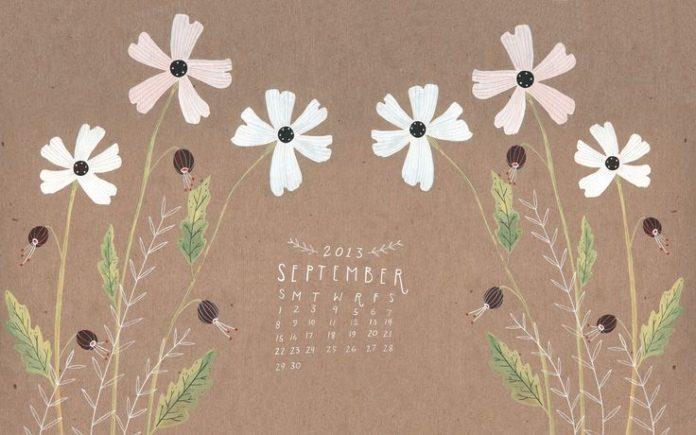 September desktop wallpaper calendar by Rebekka Seale