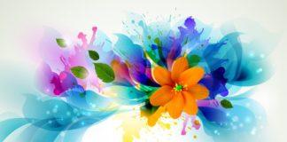 colorful digital art   fond ecran colorful digital art wallpaper fleur flower - ...