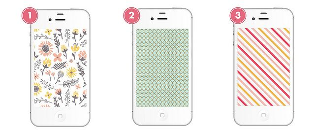 free iphone backgrounds by blush printables, via Flickr