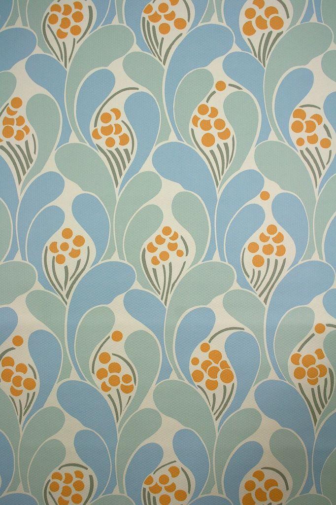 804 Vintage retro wallpaper '70s papier peint geometrique