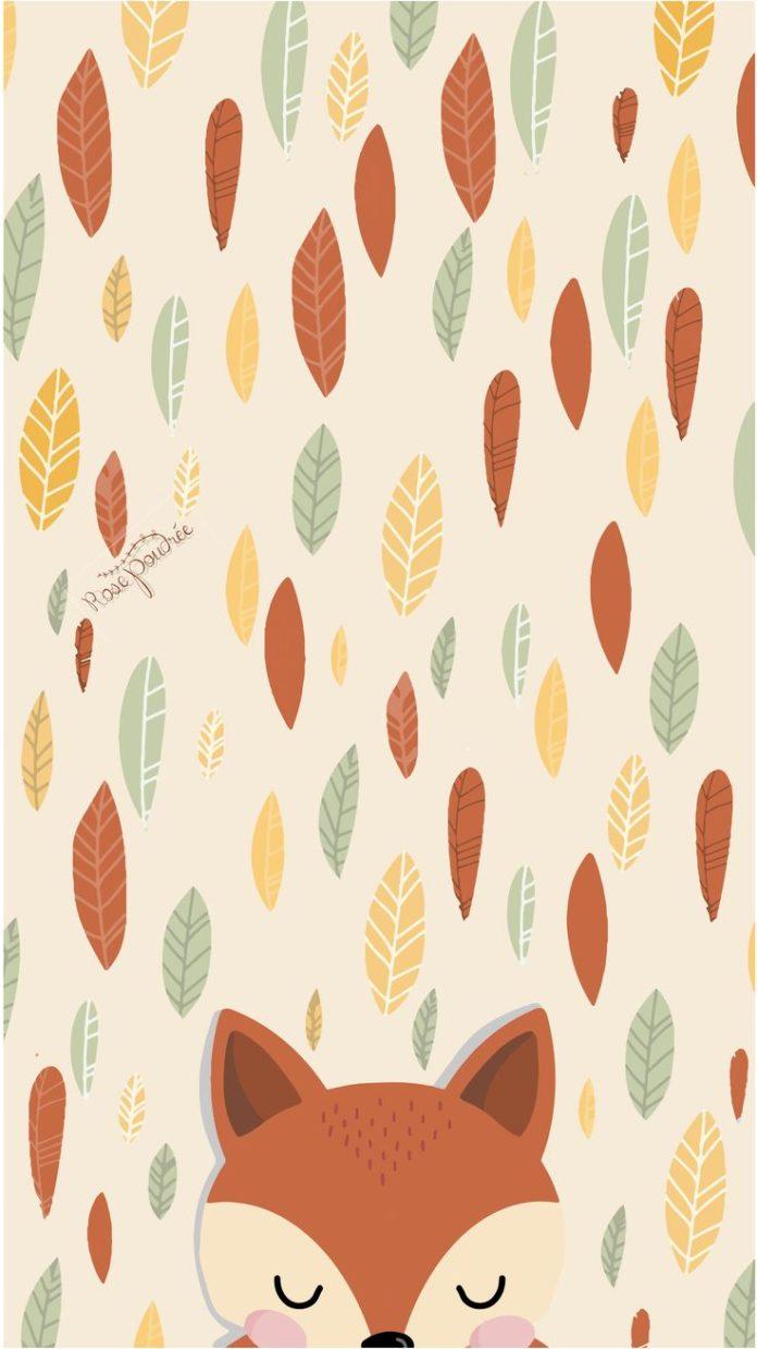 Joli fond d'écran d'automne avec un petit renard - wallpaper autumn - f...
