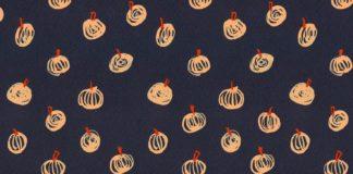 ++ halloween / pumpkin / autumn / fall surface pattern design / gouache painting