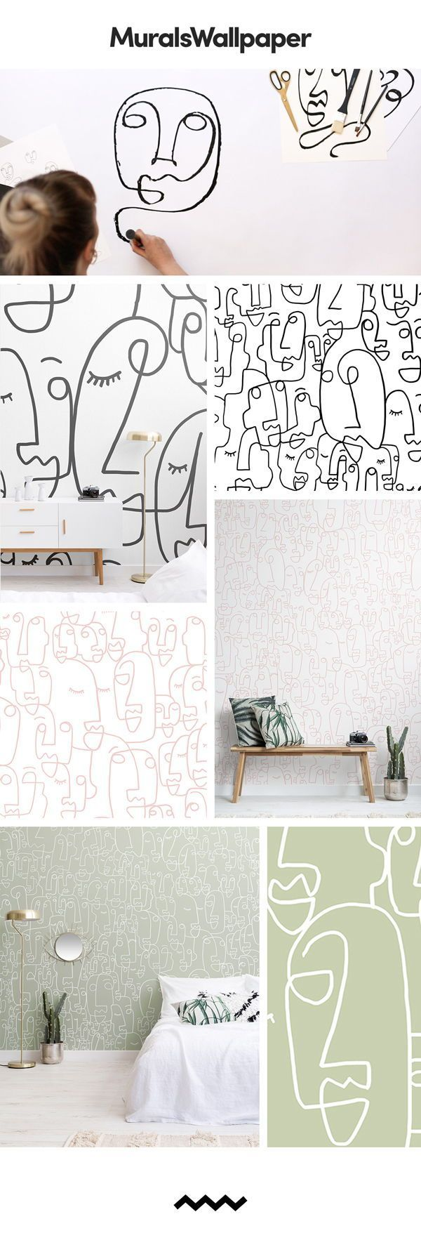 The faces within the designs are all entirely unique, capturing an array of diff...