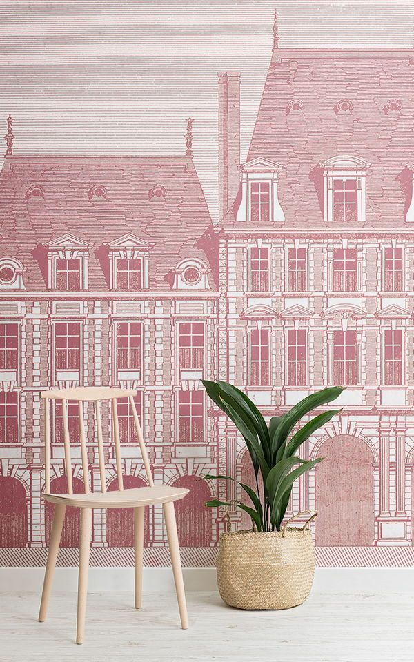 Living Room Wallpaper Inspiration : Pink home decor is currently one ...
